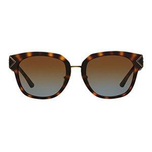 Tory Burch Tortoise Matte Brown Sunglasses.